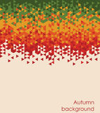 Autumn colors mosaic background. Text can be added. Autumn colors mosaic background. Text can ba added Vector illustration Royalty Free Stock Photo