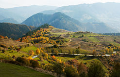 Autumn colors in mountain Stock Photos