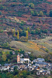 Autumn colors in the mountain village Stock Photo