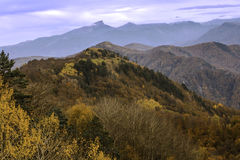 Autumn colors in the mountains of the North Caucasus Stock Photos