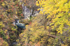 Autumn Colors of Naruko-Gorge in Japan Royalty Free Stock Photography