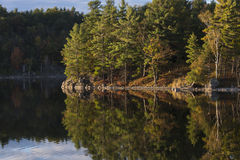 Autumn Colors on a Northern Lake Royalty Free Stock Photos