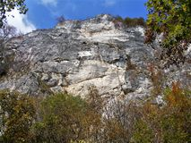 Autumn colors in Oltet gorges stock photography