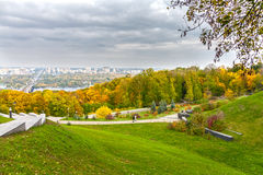 Autumn colors of Park. Slavy, Kyiv, Ukraine Royalty Free Stock Photo