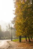 The autumn colors in the park, Turin Royalty Free Stock Images