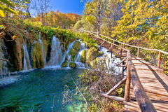 Autumn colors of Plitvice lakes national park Royalty Free Stock Photo