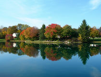 Autumn colors with pond Royalty Free Stock Image