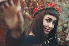 Autumn colors portrait Royalty Free Stock Image