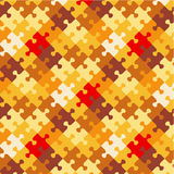 Autumn colors puzzle background. Autumn colors jigsaw puzzle patterned background, plus seamless pattern included in swatch palette (pattern fill expanded Royalty Free Illustration