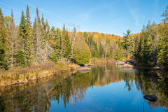 Autumn colors in Quebec, Canada Royalty Free Stock Images