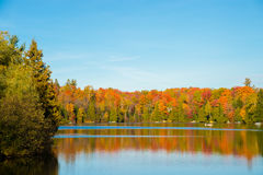 Autumn colors in Quebec, Canada Royalty Free Stock Photo