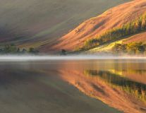 Autumn colors in reflection Stock Photography
