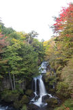 Autumn colors at Ryuzu Waterfall basin in Nikko,Tochigi Prefecture,Japan Stock Images