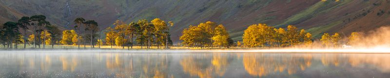 Autumn colors on the sentinels of Buttermere. The sentinels of buttermere shot at sunsed, clearly displaying their autumn colours. There was also a fair amount stock photography