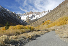 Autumn colors in Sierra Nevada mountains Royalty Free Stock Image