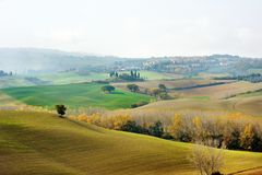 Autumn colors in Tuscany landscape, Italy royalty free stock photography