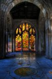 Autumn Colors From The Washington Memorial Chapel. A view of Autumn from within the Washington Memorial Chapel at Valley Forge, Pennsylvania royalty free stock images