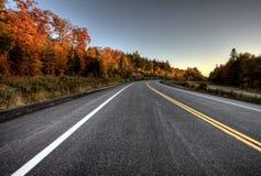 Autumn Colors y camino Fotografía de archivo