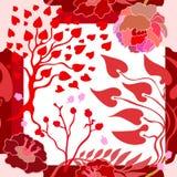Autumn Colors Zijdesjaal met bloeiende bloemen Stock Foto
