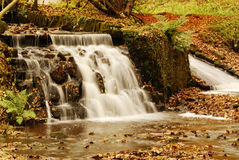 Autumn colours. Autumn waterfall and colours - England Royalty Free Stock Photo