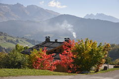 Autumn colours in the Alps Stock Images