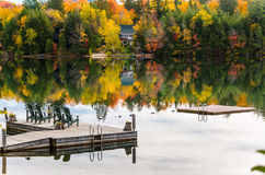 Autumn Colours im Lake Placid, NY Stockfoto
