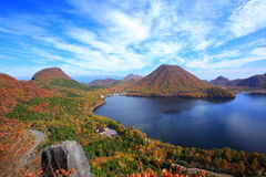 Autumn colours of Mountain and lake Stock Image