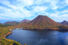 Autumn colours of Mountain and lake Stock Photography