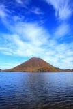 Autumn colours of Mountain and lake Stock Photo