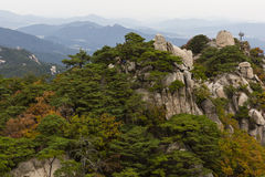 Autumn colours on the peaks of Dobongsan Stock Photo