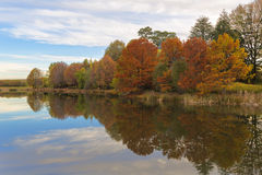 Autumn colours reflection Royalty Free Stock Photography