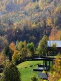 Autumn colours in Romania. Typical autumn colours at Doftana River Valley, Prahova County, Romania Stock Photo