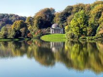 Autumn Colours At Stourhead. Stourhead, Wiltshire in early autumnal colours stock image