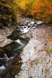 Autumn colours of valley Stock Photo