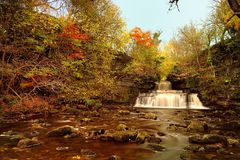 Autumn Colours. At the Waterfalls Royalty Free Stock Photography