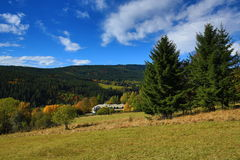 Autumn Colours, Zelezna Ruda, Boemerwald, Sumava Czech Republic Royalty Free Stock Images