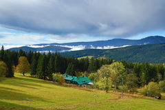 Autumn Colours, Zelezna Ruda, Boemerwald, Sumava Czech Republic Stock Photo