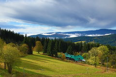 Autumn Colours, Zelezna Ruda, Boemerwald, Sumava Czech Republic Royalty Free Stock Image
