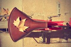 Autumn comes bike Royalty Free Stock Photo