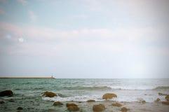 Autumn comes next to the sea. Royalty Free Stock Photo
