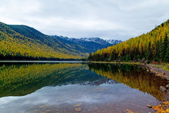 Autumn Comes To A Wilderness Lake Royalty Free Stock Image