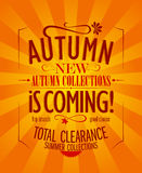 Autumn is coming design. Stock Images