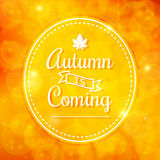 Autumn is coming Royalty Free Stock Image