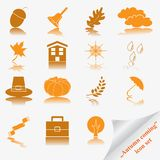 Autumn coming soon icon set Stock Photo