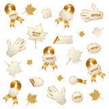 Autumn commercial labels isolated on white Royalty Free Stock Photos
