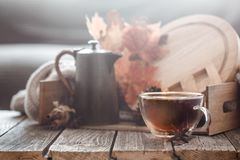 Autumn composition in the interior royalty free stock image