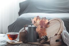 Autumn composition in the interior royalty free stock photos