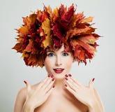 Autumn Concept. Beautiful Woman Stock Photography