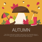 Autumn concept in flat design. Royalty Free Stock Photography