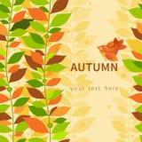 Autumn concept seamless border. Royalty Free Stock Photo